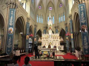Inside Saint Ignatius Catherdal