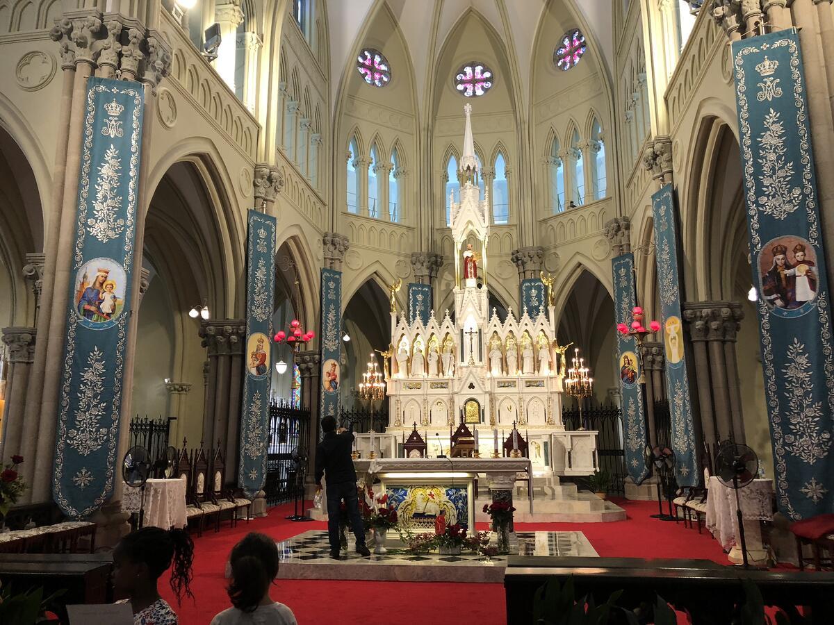 Inside Saint Ignatius Cathedral