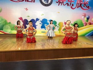 Chinese school students performance on-stage