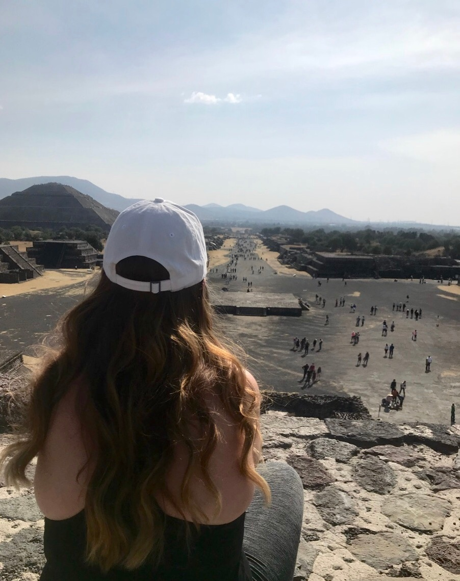 Cristy Marsh on the Pyramids in Mexico