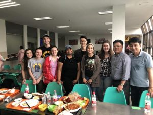 Saint Vincent students at East China Normal University Cafeteria