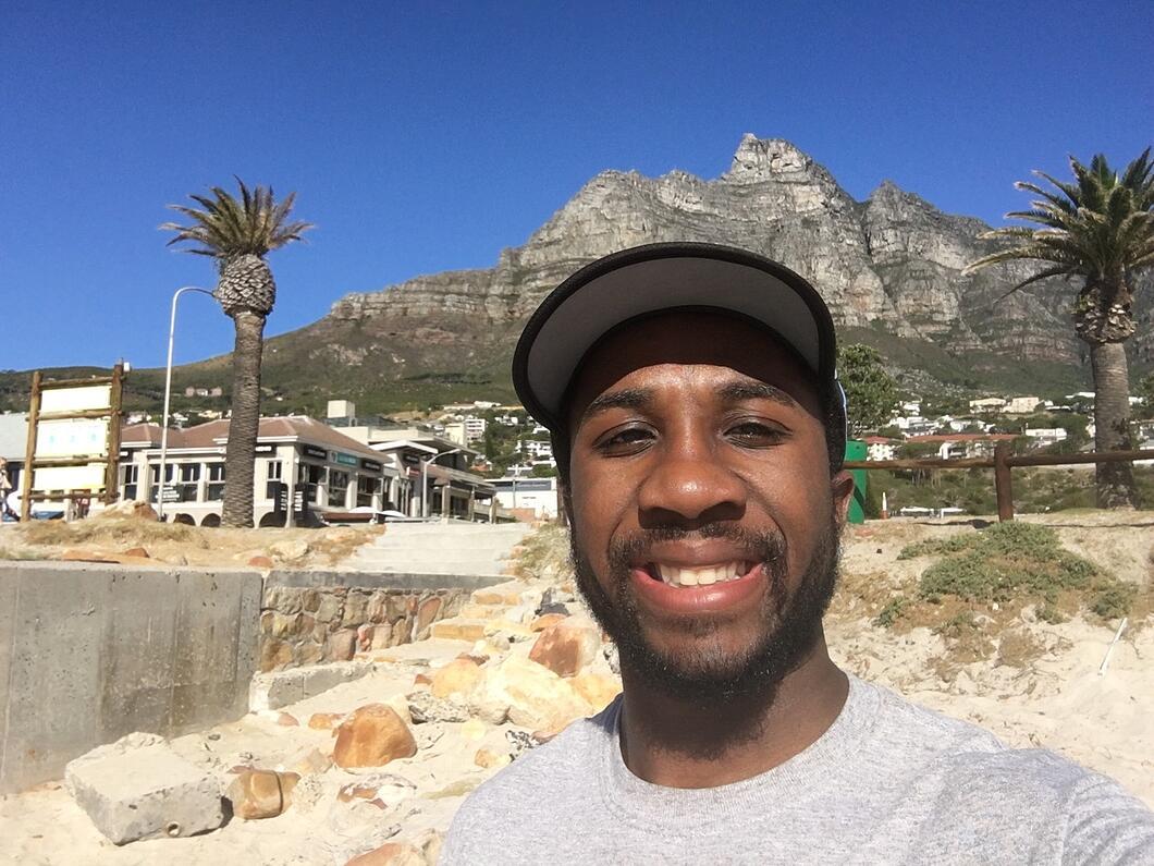 Floyd Nichols in Study Abroad program in Cape Town