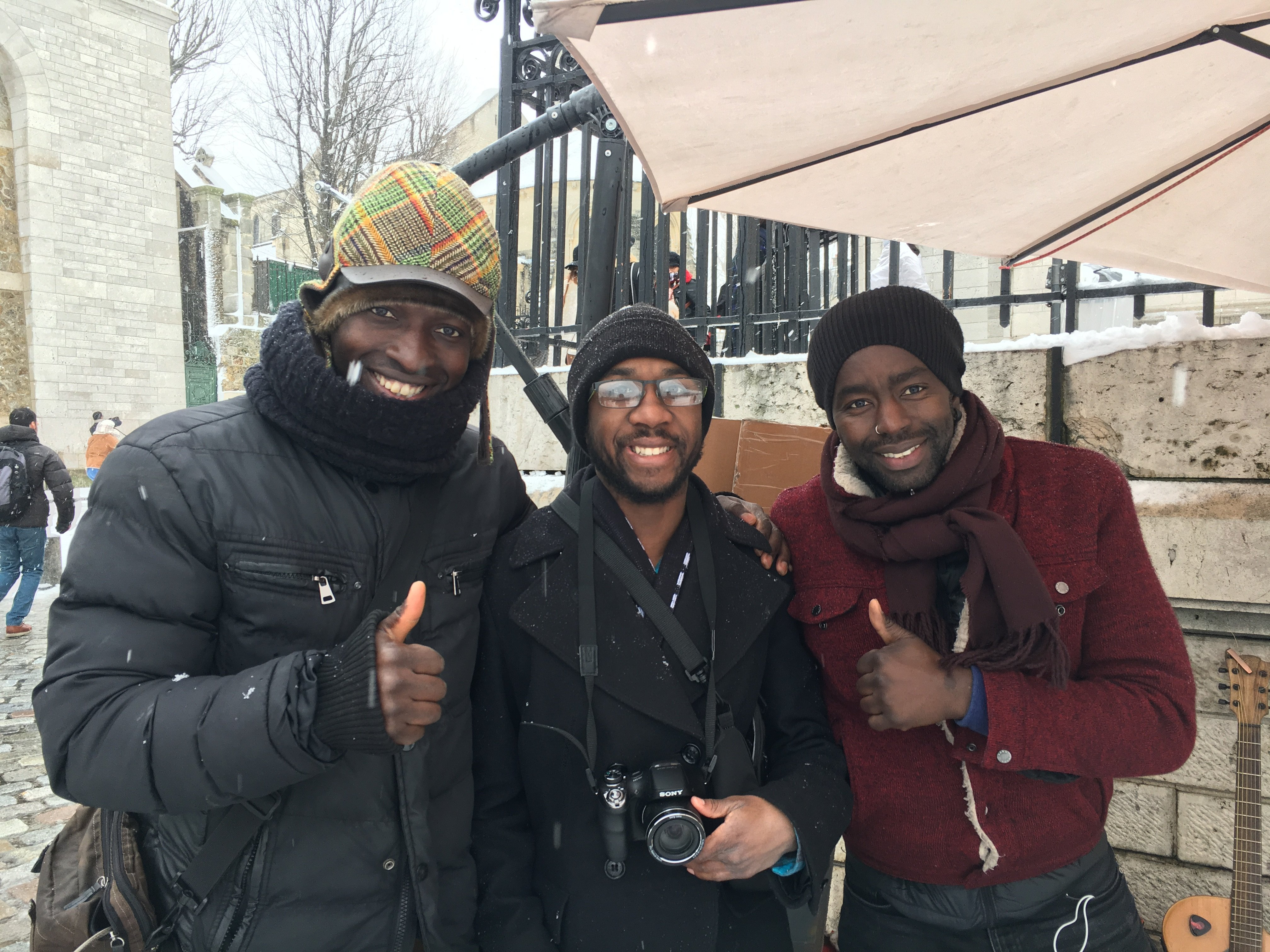 Floyd with friends in Paris