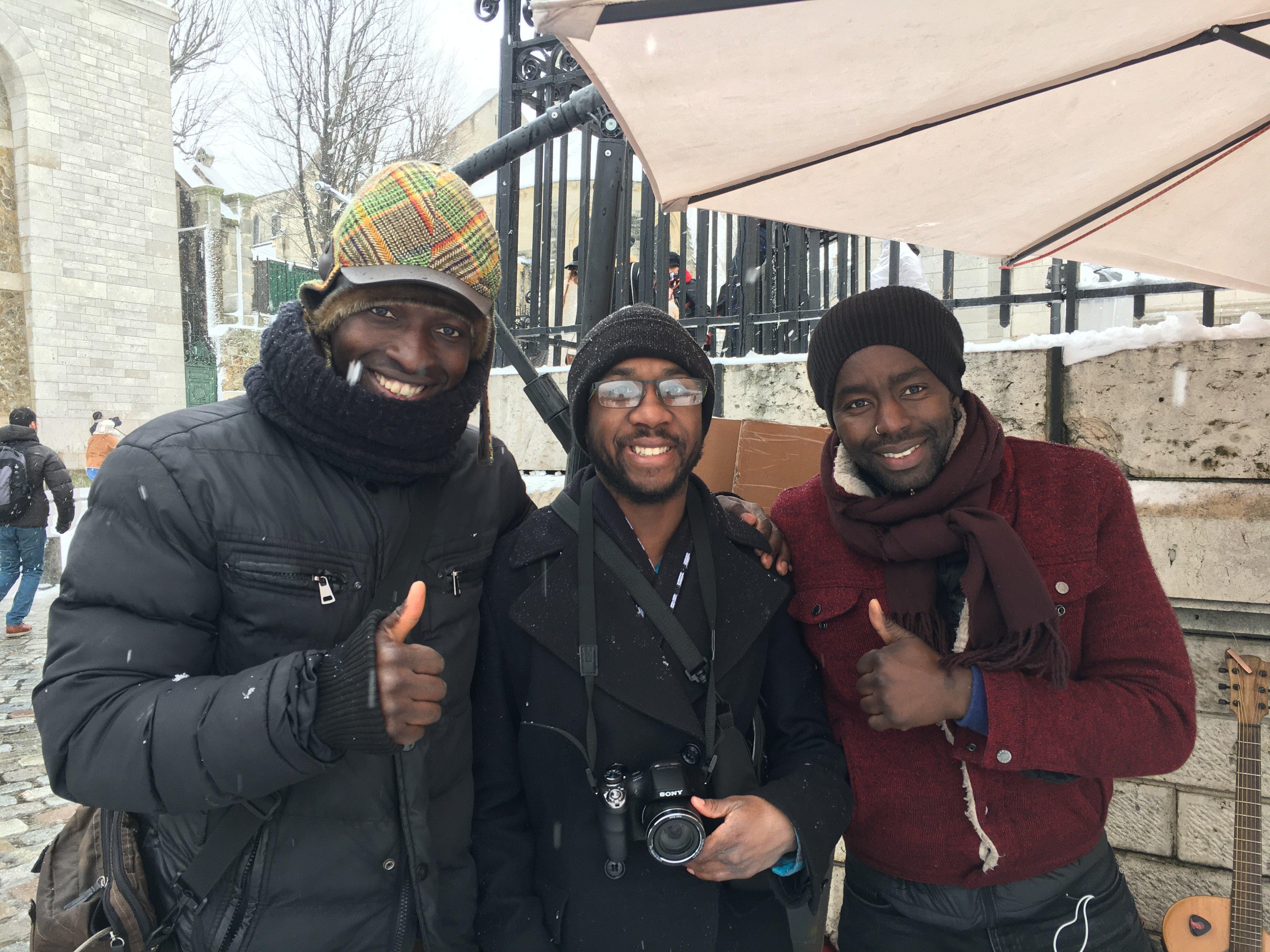Floyd with friends in Paris
