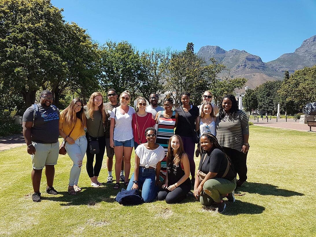 Group of students in Cape Town Study Abroad
