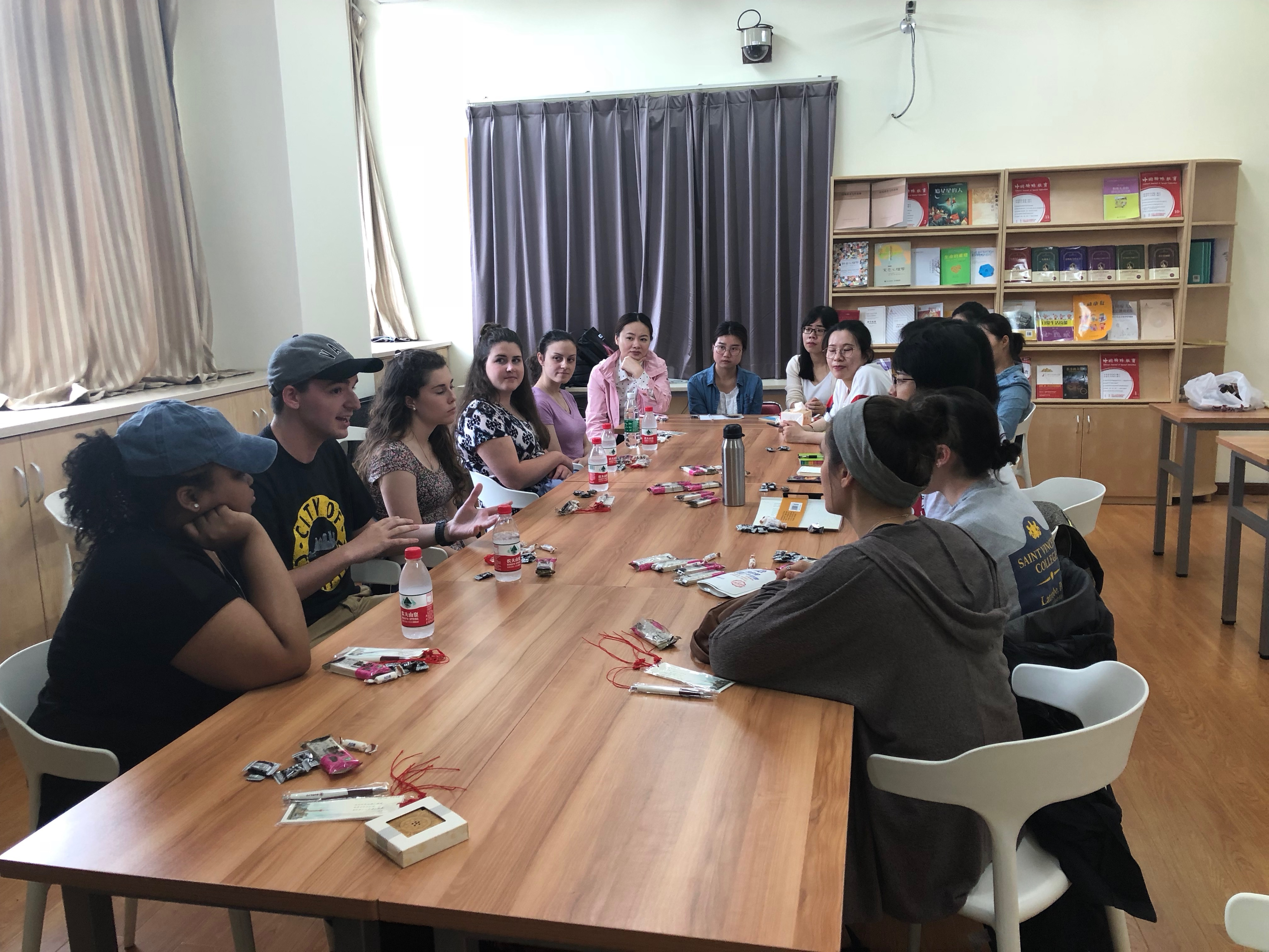 Meeting Education Program students at East China Normal University