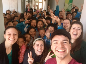 Saint Vincent students take selfie with Chinese school students
